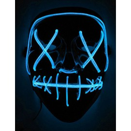Masque Led bleu La Purge Nightmare