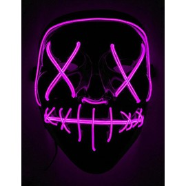 Masque Led fuchsia La Purge Nightmare