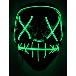 Masque Led vert La Purge Nightmare