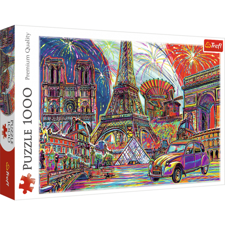 Puzzle Paris Pop Art - 1000 pièces