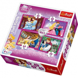 Puzzle Disney Princesses - 4 en 1